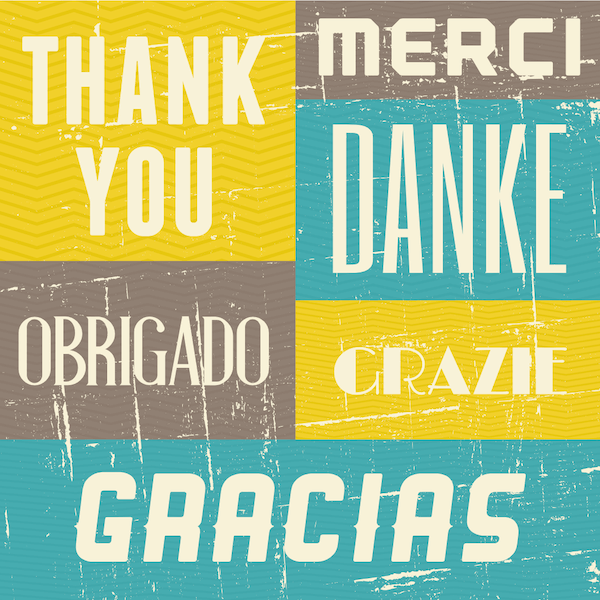 printable thank you cards - Multi-language