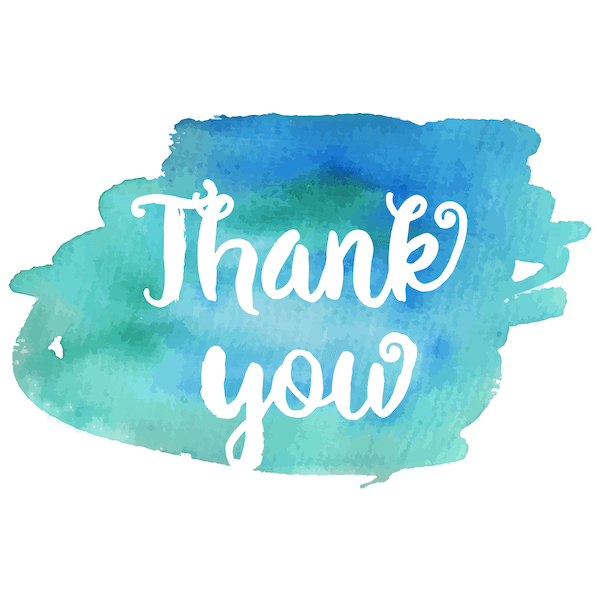 printable thank you cards - Watercolor blue green