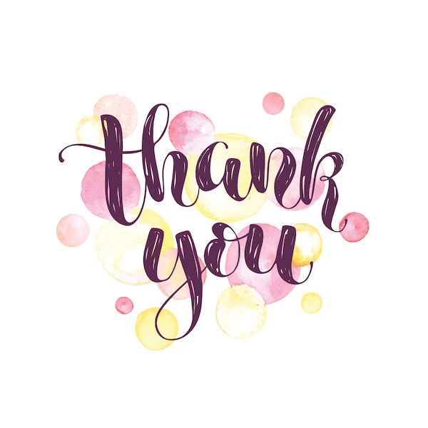 printable thank you cards - Watercolor spots