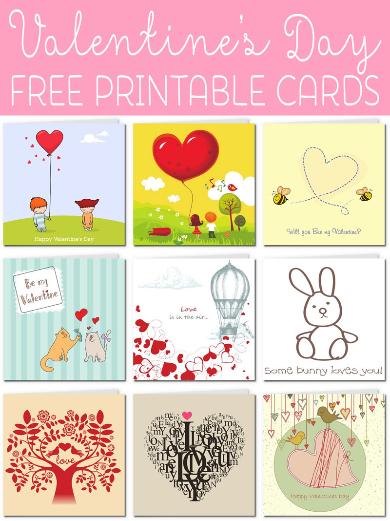 It is a photo of Effortless Print Free Valentine Cards