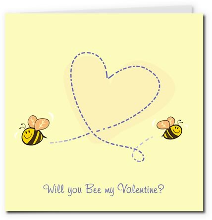 Free Printable Valentine Cards – Bee My Valentine Card