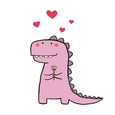 Printable Valentine Cards Cute Dinosaur 5x5