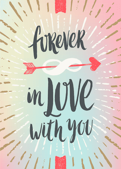 Printable Valentine Cards Forever in Love With You 5x7