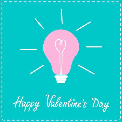 Printable Valentine Cards Happy Day Light Globe 5x5