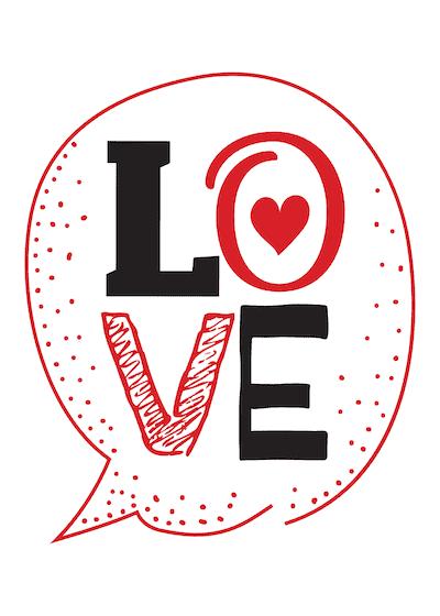 Printable Valentine Cards Love 5x7