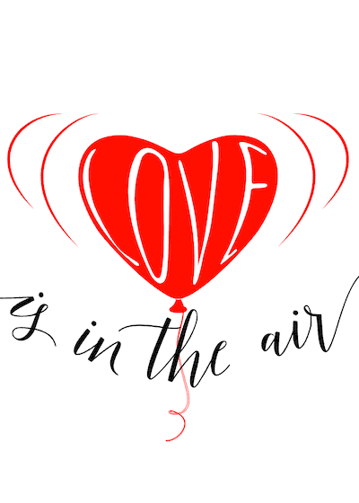 Printable Valentine Cards Love Is in the Air 5x7