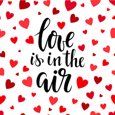 Printable Valentine Cards Love Is in the Air Hearts 5x5
