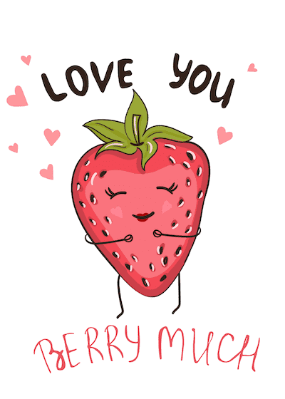 Printable Valentine Cards Love You Berry Much 5x7