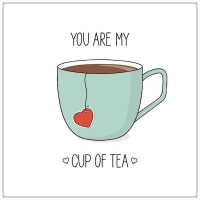 Printable Valentine Cards My Cup of Tea 5x5