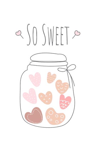 Printable Valentine Cards so Sweet Jar 5x7