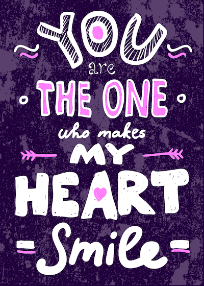 Printable Valentine Cards You Make My Heart Smile 5x7