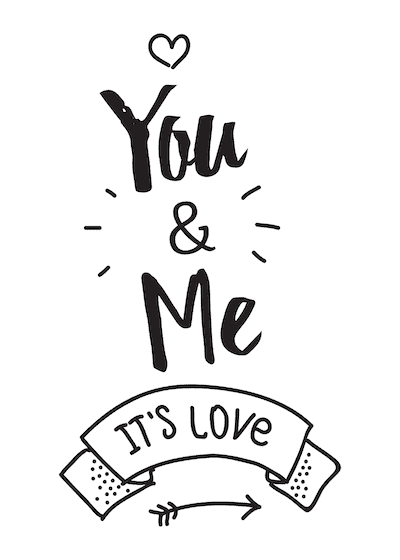 Printable Valentine Cards You Me Its Love 5x7