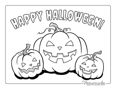 Pumpkin Coloring Pages 3 Scary Pumpkins