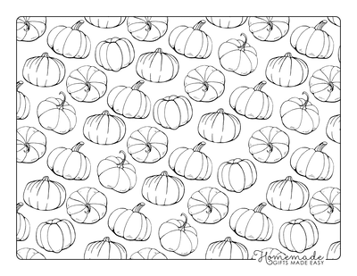 Pumpkin Coloring Pages Background of Pumpkins
