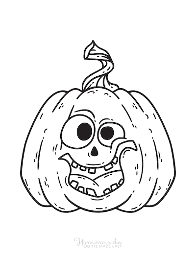 Pumpkin Coloring Pages Funny Scary Carved Pumpkin Face