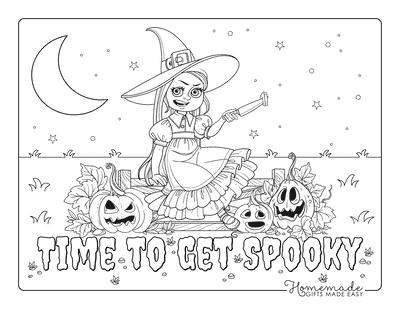 Pumpkin Coloring Pages Girl Carving Pumpkins