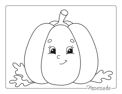 Pumpkin Coloring Pages Preschool Friendly Pumpkin