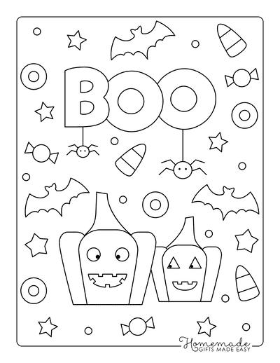 Pumpkin Coloring Pages Preschool Happy Pumpkins Boo Bats Candy Corn