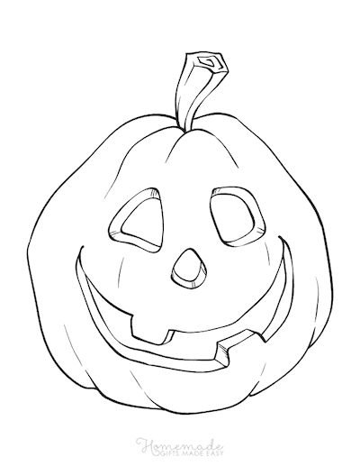 Pumpkin Coloring Pages Scary Carved Face 3