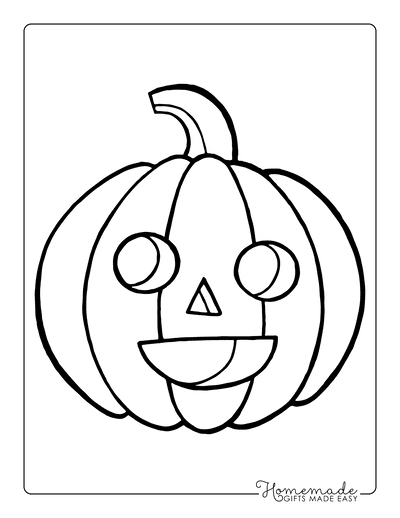 Pumpkin Coloring Pages Simple Happy Carved Pumpkin Preschoolers