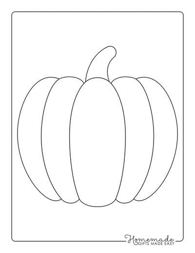 Pumpkin Coloring Pages Simple Outline Template