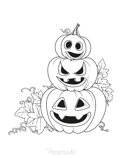 85 Pumpkin Coloring Pages For Kids & Adults Free Printables