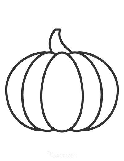 Pumpkin Template Printable Simple 1 Large Bw