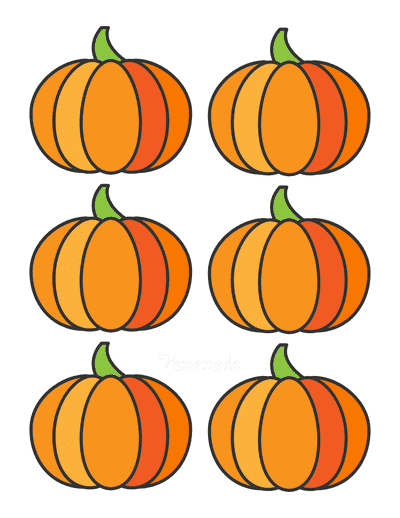 Pumpkin Template Printable Simple 1 Small Colored