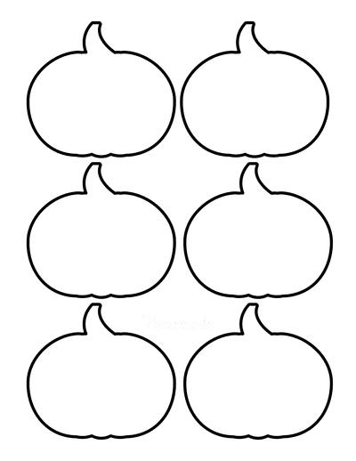 Pumpkin Template Printable Simple 1 Small Outline