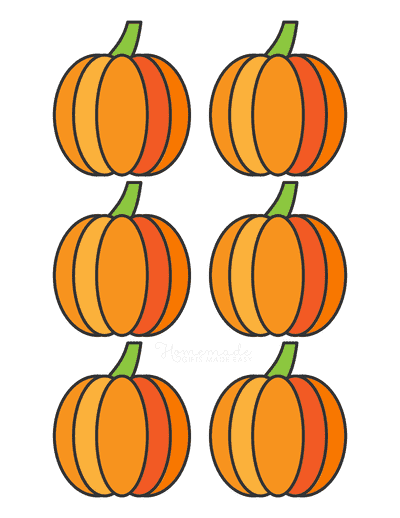 Pumpkin Template Printable Simple 2 Small Colored