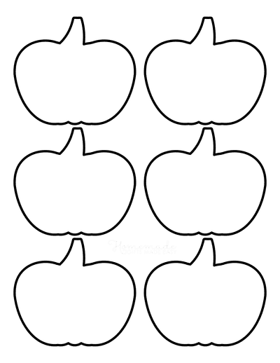 Pumpkin Template Printable Simple 3 Small Outline