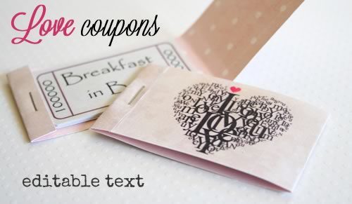 romantic coupons printable christmas gift