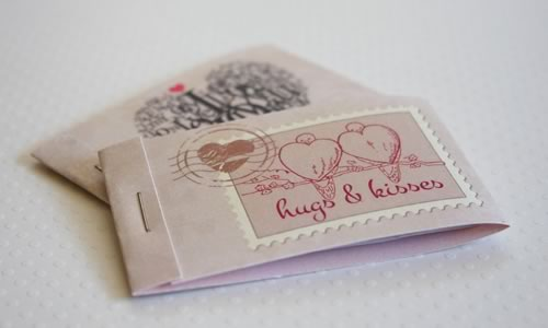 romantic coupons booklet cover assembly