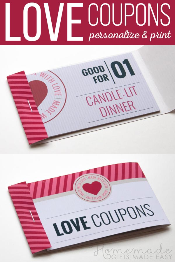 Romantic Coupons to Personalize and Print. Use the easy online coupon generator to make your coupons.