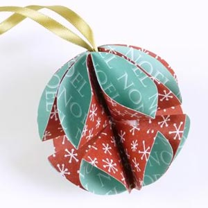 homemade paper baubles