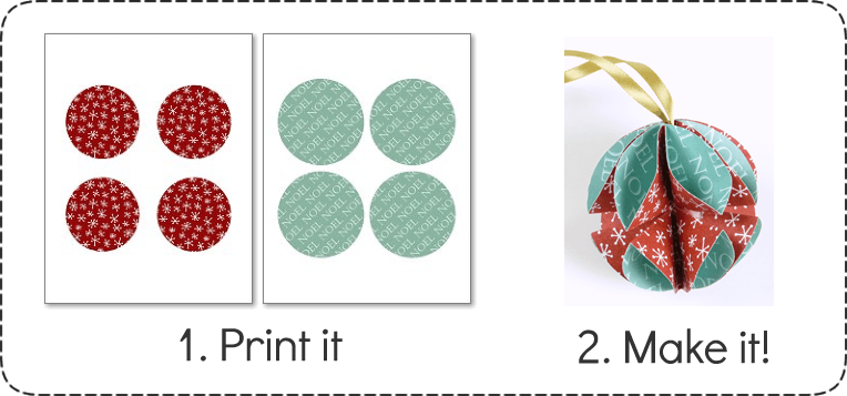 Simple Homemade Christmas Ornaments - Printable Paper
