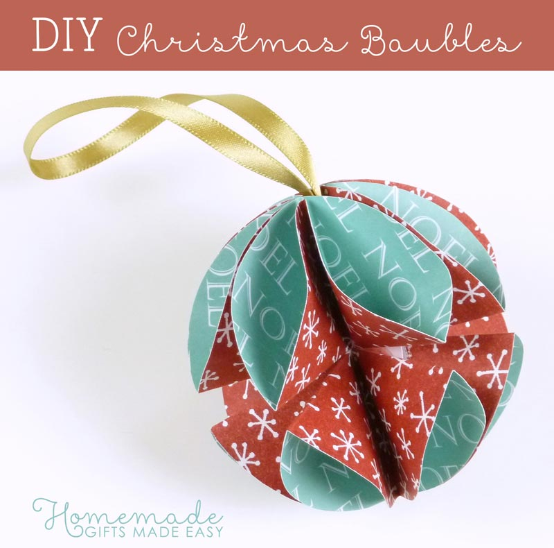 Simple homemade christmas ornaments for Simple christmas decorations to make