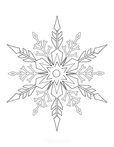 Snowflake Coloring Page Detailed 11