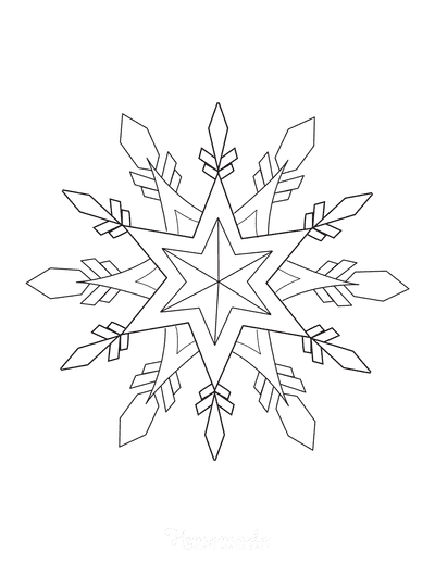 Snowflake Coloring Page Detailed 12