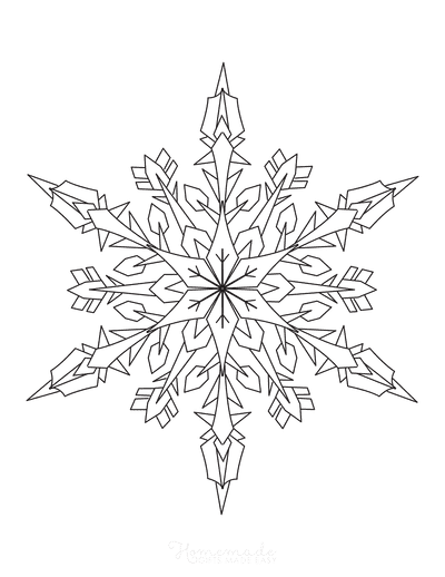 Snowflake Coloring Page Detailed 3