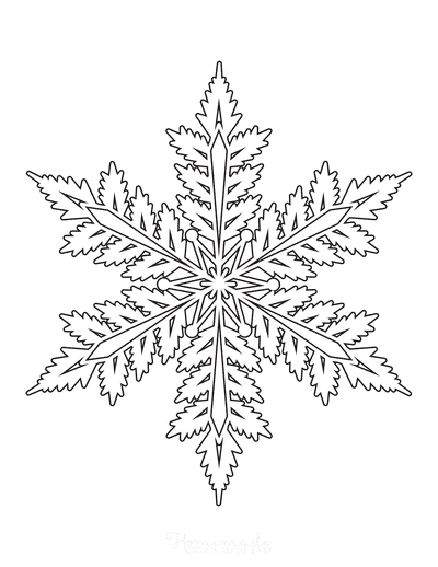 Snowflake Coloring Page Detailed 4