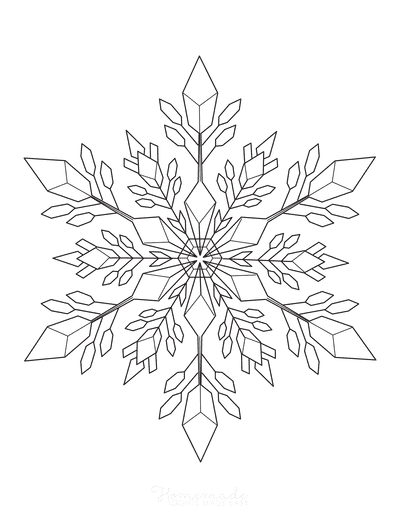 Snowflake Coloring Page Detailed 5
