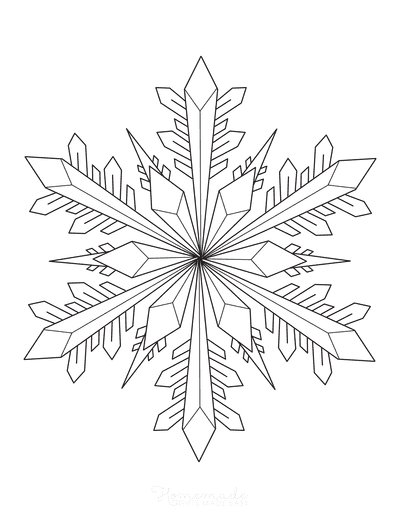Snowflake Coloring Page Detailed 6