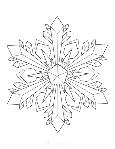 Snowflake Coloring Page Detailed 7