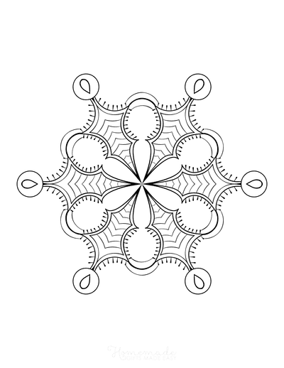 Snowflake Coloring Page for Adults Intricate 1
