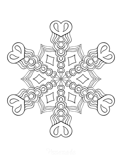 Snowflake Coloring Page for Adults Intricate 10
