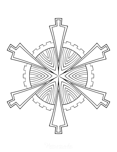 Snowflake Coloring Page for Adults Intricate 11