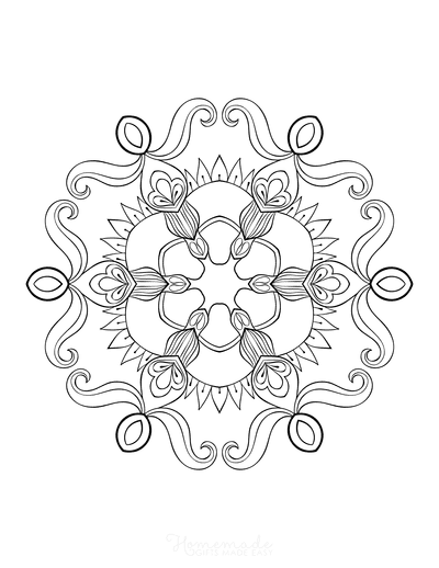 Snowflake Coloring Page for Adults Intricate 13