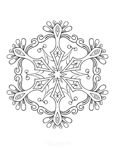 Snowflake Coloring Page for Adults Intricate 14