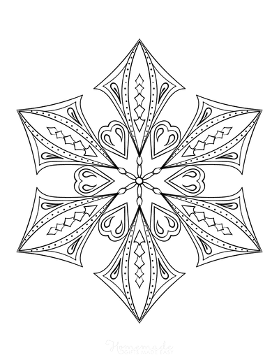 Snowflake Coloring Page for Adults Intricate 15